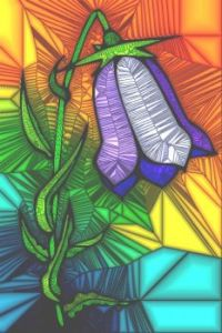 STAINED GLASS FLOWER B8