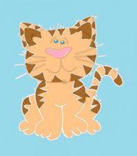 CA 395 - Cartoon Cat Sitting