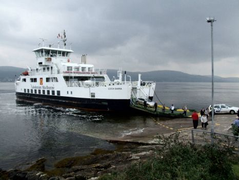 'Loch Shira' at the Cumbrae Ferry Terminal - 17th Oct 2008