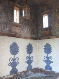 Mosaic inside garden grotto