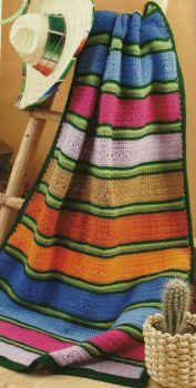 Serape Crocheted Afghan