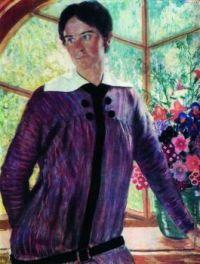 Portrait of YE Kustodieva  - Boris Kustodiev