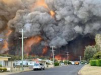 Bushfire at Harrington NSW, Australia.