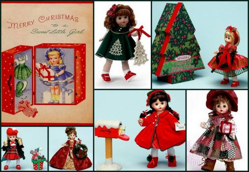 Christmas Dolls - larger