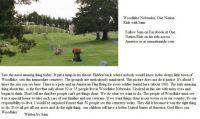 Woodlake Nebraska Memorial Day