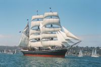 The Star of India the world's oldest ship still able to go to sea. Built at Ramsey Shipyard in the Isle of Man in 1863