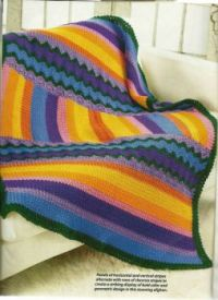 Stripes & Rickrack Colorful Afghan