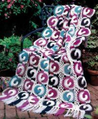 Enchanting Friendship Rings Crocheted Afghan