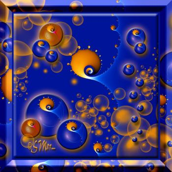 ROYAL BLUE With Mini Orbs and Mini Fractal.....