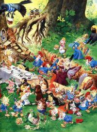 Tony Wolf Illustration Woodland Folk Food Fight