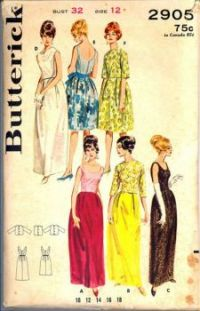 Sixties Evening Gown & Party Dress Pattern