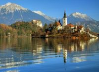 Bled Island in Late Autumn by vilius
