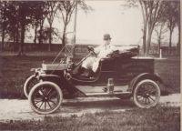 Austin Amiro in Minard's Model T.