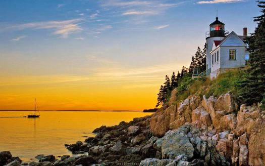 Maine Lighthouses: Bass Harbor, Acadia National Park