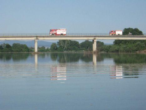 Reflections on the Soča river - Isonzo Bridge, Via Monfalcone, Italy