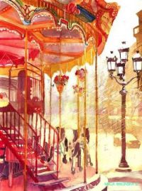 maja wronska watercolor merry go round