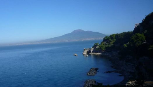 Mt Vesuvius from Amalfi coast road