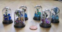 Crafts - Dolls Houses - 12th Scale Bead Dome Displays - Blues & Purples (Small)