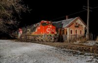 GTW(CN) southbound local through Holly, Michigan