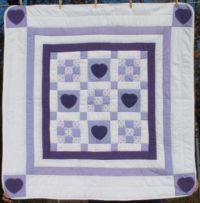 Lavender Nine Patch Quilt