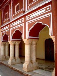Pillars at City Palace, Jaipur