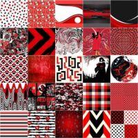 264 Red, Black & White