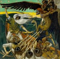 The defence of Sampo by Akseli Gallen-Kallela