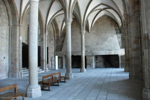Inside Abbey of Mont St Michel, France