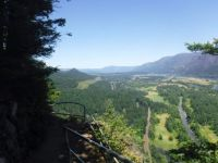 looking east up the Columbia River valley, Beacon Rock, Washington state