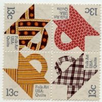 USA stamp folk art quilt