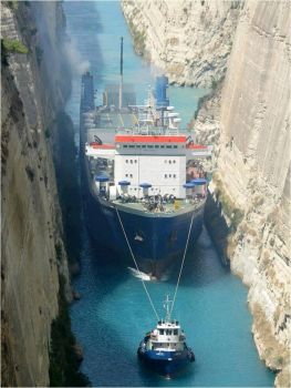 Korinth Canal in Greece