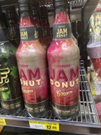Jam donut in a bottle, who knew?