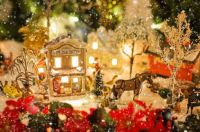 Golden Christmas Village