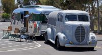 Ford COE Truck and Vintage Trailer
