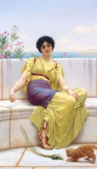 "John William Godward. ""Idleness"" 1900"