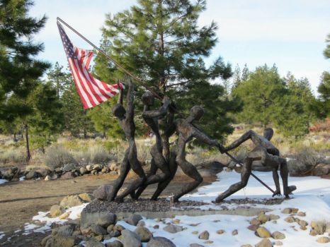 Veterans Memorial Sculpture Garden, near Weed CA