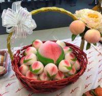 寿桃包 Chinese Longevity Peach Bun