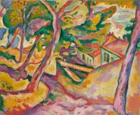 Georges Braque--Landscape at L'Estaque, autumn 1906