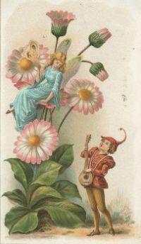Vintage fairy art greeting card
