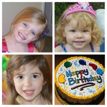 3 family princesses turning 3 in June. Thier grandmas are 3 sisters. how blessed are we.