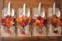 Cute presentation of silverware for Thanksgiving