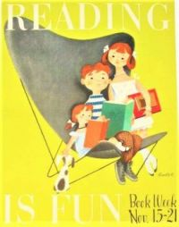 Themes Vintage illustrations/pictures - Reading is Fun