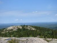 In the distance, Parkman Mountain, Acadia National Park.