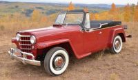 1951 Willys Jeepster front Maroon and Black