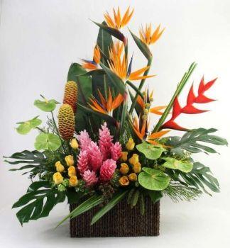 Happiness is…..Exotic Tropical Arrangement.