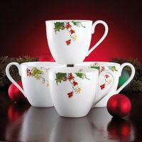 """Winter Song"" cafe mugs by Lenox"