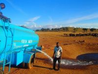 The Water Man, who delivers water to the wild animals in dry lands of Kenya