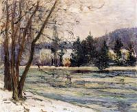 Maxime Maufra--The Icy Pond, Avray, 1897