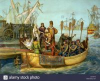 the-first-voyage-christopher-columbus-bidding-farewell-to-the-queen-EC7KYA