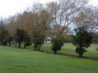 walking through local park